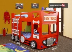 feuerwehrbett fire truck double feuerwehrbett. Black Bedroom Furniture Sets. Home Design Ideas